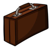 Brown attache case — Stock Vector