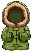Green body warmer — Stock Vector