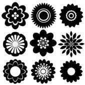 Set of floral templates — Stock Vector