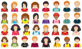 Group of people without faces — Stock Vector