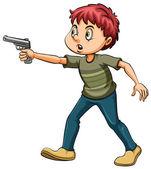 Man with a gun — Stock Vector
