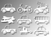 Different types of transportation — Stock Vector