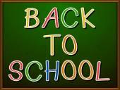 Back to school signboard — Stockvektor