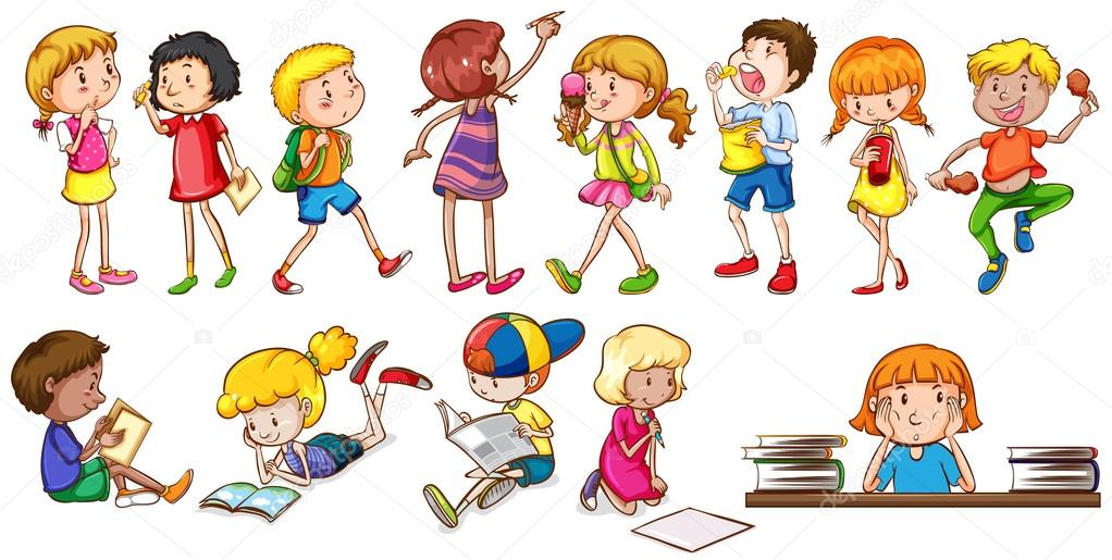 Занятый ребенок рисунок