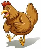 Brown fat hen — Stock Vector