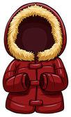 Red body warmer — Stock Vector
