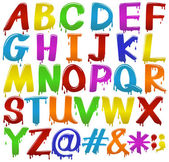 Rainbow coloured letters of the alphabet — Stock Vector