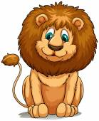 Behaved brown lion — Stock Vector