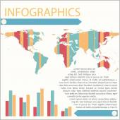 Infographics of a map — Stock Vector
