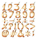 Numeric figures in Indian artwork — Stock Vector