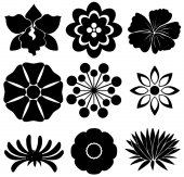 Group of floral templates — Stock Vector