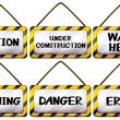Different warning signages — Stock Vector #68678211
