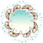 Fishes forming a circle — Stock Vector