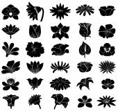 Black floral templates — Stock Vector