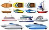 Boats — Stock Vector