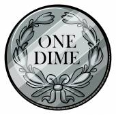 One dime — Stock Vector