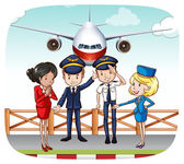 Cabin crew — Stock Vector