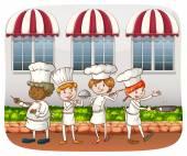 Chefs — Vector de stock