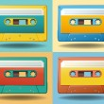 Cassettes — Stock Vector #76215131