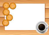 Koffie en koekjes — Stockvector
