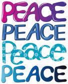 Vrede — Stockvector