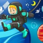 Astronaut — Stock Vector #77695184