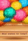 Best wish — Stock Vector