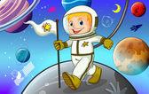 Astronaunt — Stockvektor