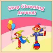 Clowns — Stock Vector