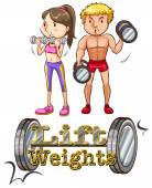 Lift weights — Stock Vector