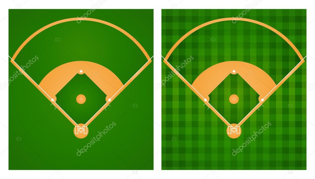 Baseball field lineup diagram