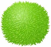 Green fluffy ball on white — Stock Vector