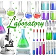 Laboratory tools and equipments — Stock Vector #83747356