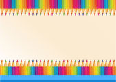 Border design with colorpencils — Stock Vector