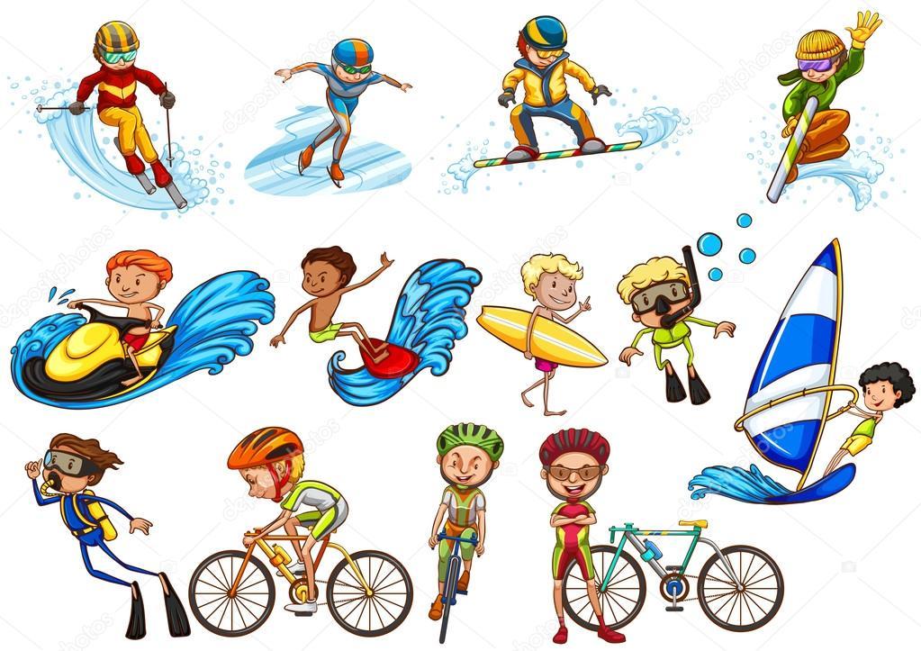 Deportes Diferentes Deportes: Personas Haciendo Diferentes Deportes