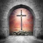 Way to Golgotha view — Stock Photo