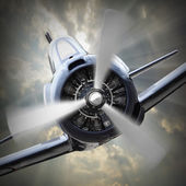 Vintage fighter plane — Stock Photo