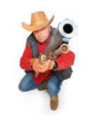 Hunter with big bore rifle — Stock Photo