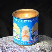Burning kosher candle — Stock Photo