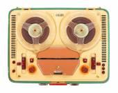 Kołowrotek magnetofon z 1960 roku. — Zdjęcie stockowe