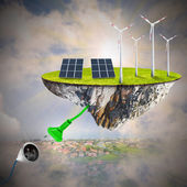 Sustainable development and power and fuel generation. — Foto Stock