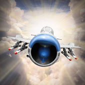 Speedy jet on the sky — Stock Photo
