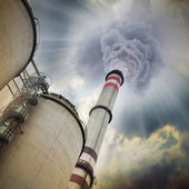 Air pollution factory — Stock Photo