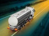 White tanker truck — Stock Photo