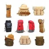 Travel bags and backpacks — Stock Photo