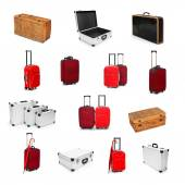 Different type of suitcases — Stock Photo