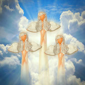 Three angels on the heaven — Foto Stock