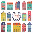 Colorful houses collection — Stock Vector #54200075