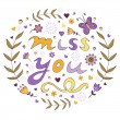 Miss you card — Stock Vector #57104681