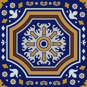 Ceramic tile ornament — Stock Vector